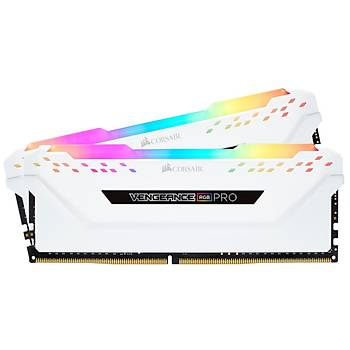 Corsair CMW16GX4M2C3200C16W 16GB (2X8GB) DDR4 3200MHz CL16 Vengeance White RGB Pro Soðutuculu DIMM Bellek Ram