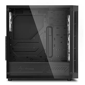 Sharkoon TG5 4xMavi Led Fanlý Pencereli ATX Oyuncu Kasa