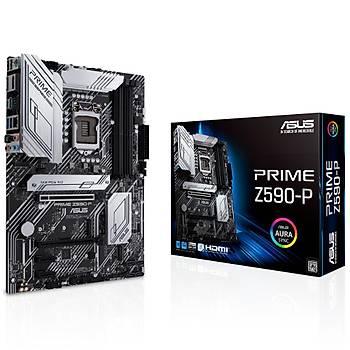 ASUS PRIME Z590-P Intel Z590 LGA1200 DDR4 5000 DP HDMI 3x M2 USB3.2 AURA RGB 2.5Gb Intel ATX 128GB?a kadar ram desteði