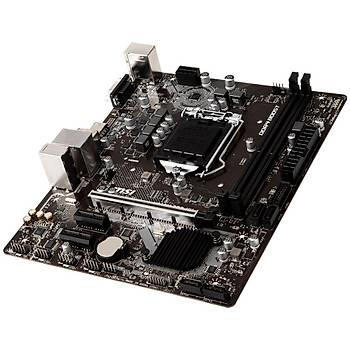 MSI H310M PRO-VDH PLUS SOKET 1151 DDR4 2666 DVI VGA HDMI USB3.1 mATX Anakart
