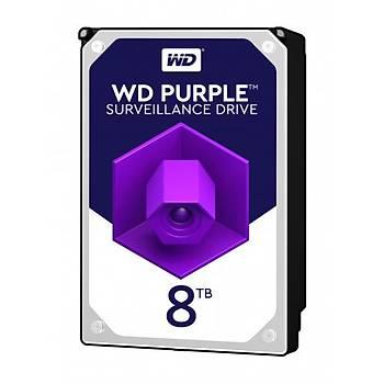 WD Purple 3.5 SATA III 6Gb/s 7200RPM 8TB 256MB 7/24 Guvenlýk WD82PURZ