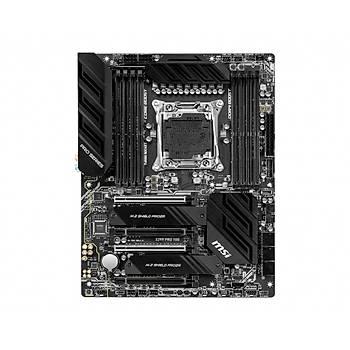 MSI X299 PRO 10G SOKET 2066 DDR4 4200 (OC) 2XM.2 USB 3.2 ATX (10 GIGABIT LAN ,M.2 EXPANDER HEDIYELI)