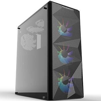 Powerboost VK-G3090C 4X RGB Fanlý Gaming Mid-Tower Kasa (PSU YOK)