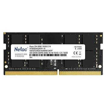 Netac Basic NTB 16GB 2666MHz DDR4 NTBSD4N26SP-16