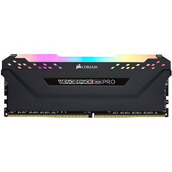 CORSAIR CMW32GX4M4E3200C16 32GB (4x8GB) DDR4 3200 MHz C16 VENGEANCE RGB BLACK DIMM BELLEK