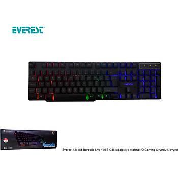 Everest KB-188 Borealis USB RGB Türkçe-Q Klavye