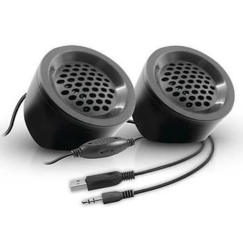 Snopy SN-03A 2.0 Siyah 2Wx2 USB Mini Speaker