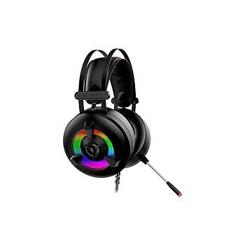 Rampage Miracle X2 PLUS Siyah RGB Led 7.1 Oyuncu Kulaklýðý