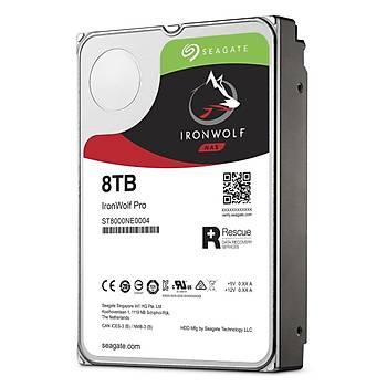 Seagate Ironwolf Pro 3.5 8TB Sata 3.0 256MB 214MB/S RV Sensör 7200RPM 300TB/Yil Ýþ Yükü 7/24 E-Nas Data Kurtarmalý Disk ST8000NE0004 HDD & Harddisk