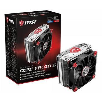 MSI GG CORE FROZR S NIKEL KAPLI BAKIR TABAN 2 X 8MM 2 x 6MM ISI BORUSU 120 MM PATENTLI TORX FAN INTEL LGA 2011-3/2011/1366/1156/1155/1151/1150/775 AMD AM4/ FM2/ FM1/ AM3+/ AM3/ AM2+/ AM2