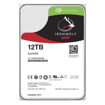SEAGATE IRONWOLF 3.5 12TB SATA 3.0 256MB 210MB/S RV SENSÖR 7200RPM ISYÜKÜ 7/24 NAS DÝSK ST12000VN0008