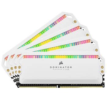 Corsair CMT32GX4M4C3600C18W 32GB (4X8GB) DDR4 3600MHz CL18 Dominator Platinum RGB Soðutuculu Beyaz DIMM Bellek Ram