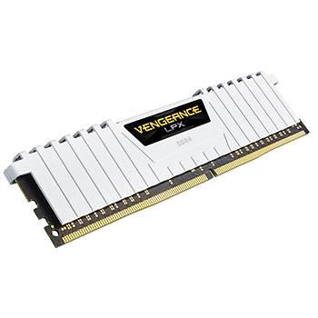 CORSAIR CMK16GX4M2D3000C16W 16GB (2X8GB) DDR4 3000MHz CL16 VENGEANCE BEYAZ LPX SOGUTUCULU DIMM BELLEK