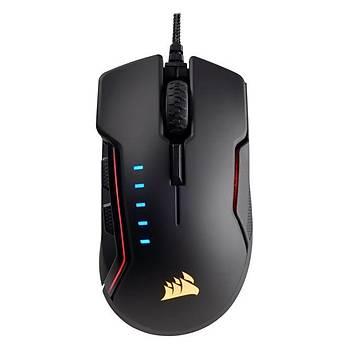 Corsair CH-9302011-EU Glaive RGB 16.000 DPÝ Optik Sensör Deðiþtirilebilir Baþ Parmak Desteði Siyah Gaming Mouse