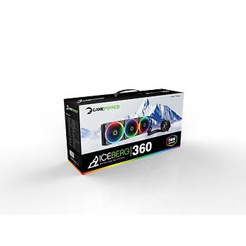 Gamepower Iceberg360 Cpu Sývý Soðutma 360mm