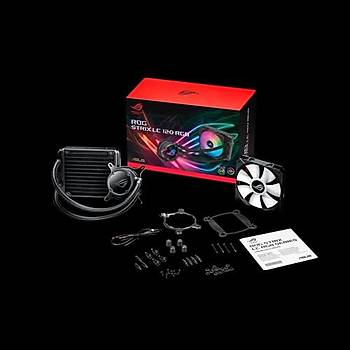 Asus Rog Strix LC 120 RGB Aura Sync RGB 120MM Adreslenebilir Fan Sývý CPU Soðutucusu Ýþlemci Faný