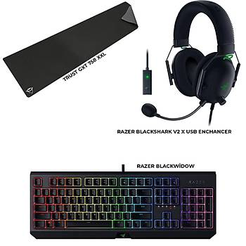 Razer Blackwidow + Razer Blackshark v2 Usb Enchancer + Trust GXT 758 Bundle