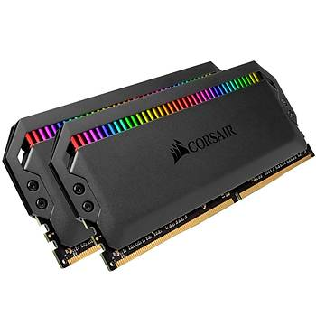 CORSAIR CMT16GX4M2Z3200C16 16GB (2X8GB) DDR4 3200MHz CL16 DOMINATOR PLATINUM RGB SOÐUTUCULU SIYAH DIMM BELLEK