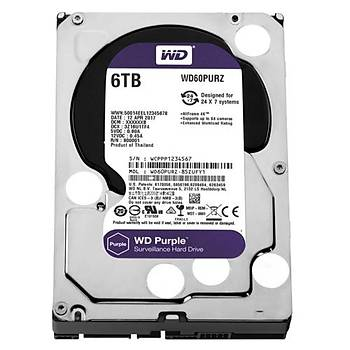 WD PURPLE 3,5 6TB 64MB 5400RPM WD60PURZ