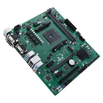ASUS PRO A520M-C/CSM AMD A520 AM4 DDR4 4400 HDMI DVI VGA M2 USB3.2 COM PCI mATX