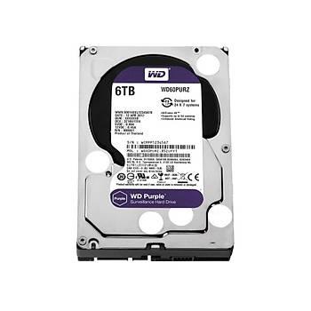 WD Purple 3.5 SATA III 6Gb/s 6TB 64MB 7/24 Guvenlik WD60PURZ