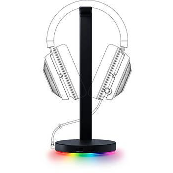 Razer BlackShark v2 USB Enhancer + Trust GXT 765 Glide-Flex RGB USB Portlu Mousepad + Razer Base Station V2 Chroma