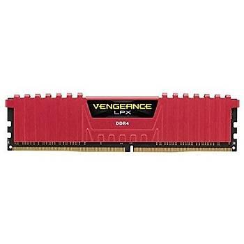 Corsair CMK8GX4M1A2400C16R 8GB DDR4 2400MHz CL16 Vengeance Red Lpx Soðutuculu DIMM Bellek Ram