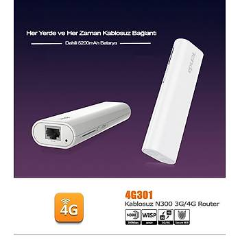 Tenda 4G301 1Port WiFi-N 300Mbps 3G/4G Router+ 5200 mAH PowerBank