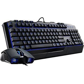 COOLERMASTER Devastator II Türkçe Q Led Ayd. Gaming Klavye Mouse
