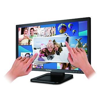 Viewsonic 21.5 TD2220-2 Full HD D-SUB+DVI 2 Parmak Dokunmatik Siyah Monitör