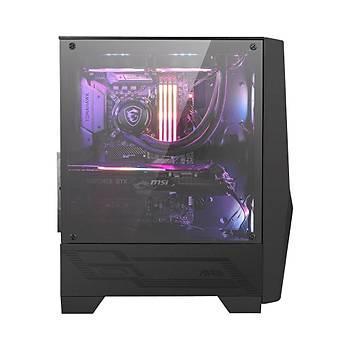 Msi Mag Forge 100R Temperli Cam 2X A-RGB Fan, 1X 120MM Fan ATX Gaming Bilgisayar Kasasý