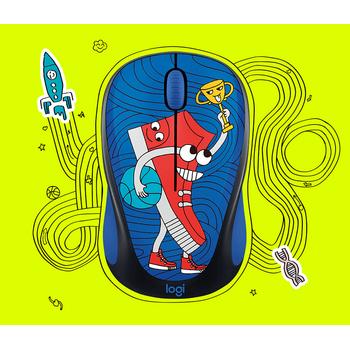 Logitech M238 Kablosuz Mouse The Doodle Collection Sneaker Head 9