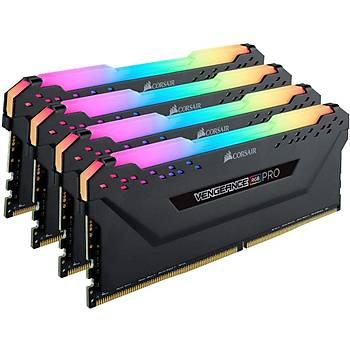 Corsair CMW32GX4M4D3600C18 32GB (4x8GB) DDR4 3600 MHz C18 Vengeance Black RGB Pro DIMM Bellek Ram