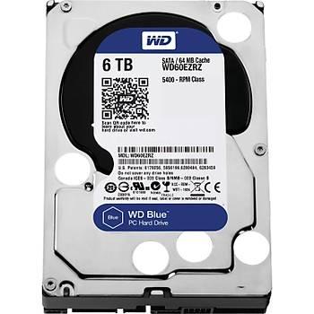 WD Blue 3,5 SATA III 6Gb/s 6TB 64MB WD60EZRZ