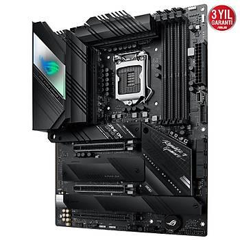 ASUS ROG STRIX Z590-E GAMING WIFI Intel Z590 LGA1200 DDR4 5333 DP HDMI 4x M2 USB3.2 AX WiFi + BT AURA RGB 2 x 2.5Gb Intel ATX 14+2 Güç Aþamasý Ýki Yönlü AI Ses Engelleyici Mic.