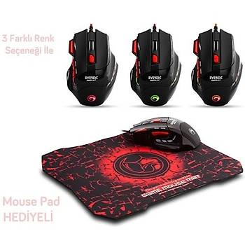 Everest SGM-X7 USB Siyah Oyuncu 2 in 1 Pad + Mouse