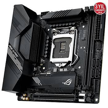 ASUS ROG STRIX B460-I GAMING Intel B460 LGA1200 DDR4 2933 DP HDMI Çift M2 USB3.2 AX WiFi + BT AURA RGB Mini ITX Konsol Boyutundaki G