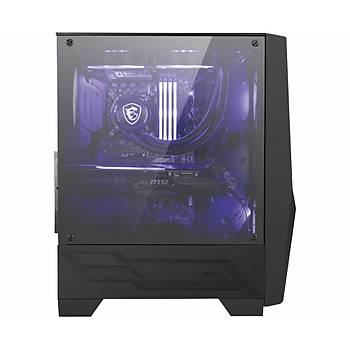 MSI MAG FORGE 100M TEMPERLI CAM 2X RGB FAN, 1X 120MM FAN ATX GAMING BILGISAYAR KASASI