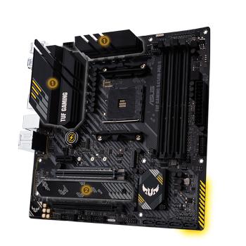Asus Tuf Gaming B450M-Pro S AMD B450 AM4 DDR4 4400 HDMI DVI Çift M2 USB3.1 Aura RGB mATX Anakart