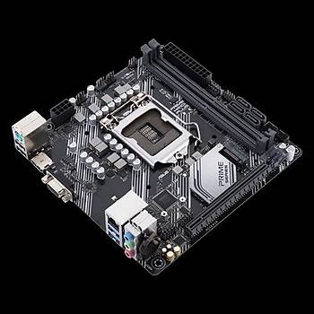 ASUS PRIME H410I-PLUS Intel H410 LGA1200 DDR4 2666 HDMI VGA M2 USB3.2 Mini ITX 64GB Ram Desteði