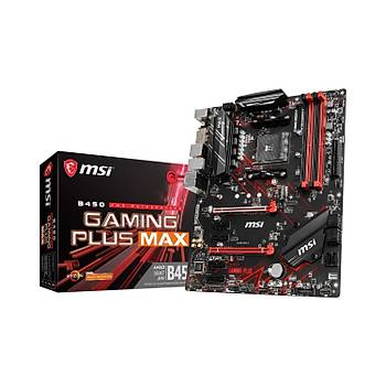 MSI B450 GAMING PLUS MAX 4133MHz(OC) DDR4 Soket AM4 M.2 HDMI DVI ATX Anakart