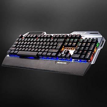 Rush REVOLVER RK844 Mavi Switch Oyuncu Gaming Tam Mekanik Klavye