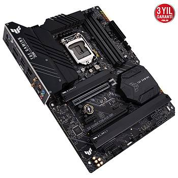 ASUS TUF GAMING Z590-PLUS WIFI Intel Z590 LGA1200 DDR4 5133 DP HDMI 3x M2 USB3.2 AX WiFi BT AURA RGB 2.5Gb Intel ATX 128GB?a kadar ram desteði Ýki Yönlü AI Ses Engelleyici Mic.