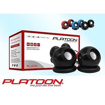 PLATOON PL-4124 PC USB MINI SPEAKER 1+1