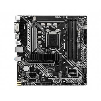MSI MAG B460M BAZOOKA SOKET 1200 DDR4 2933 DVI HDMI M.2 USB 3.2 MATX