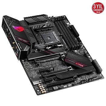 ASUS ROG STRIX B550-E GAMING AMD B550 AM4 DDR4 4400 DPHDMI Çift M2 USB3.2 AX WiFi + BT ARGB 2.5Gbit LAN ATX PCIe 4.0 ECC RAM Desteði