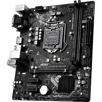 MSI H310M PRO-VDH PLUS SOKET 1151 DDR4 2666 DVI VGA HDMI USB3.1 mATX WIN7 WIN10