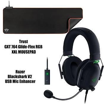 Razer BlackShark v2 USB Enhancer  (RGB XXL Gaming Mousepad Hediye)