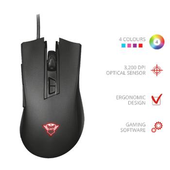 Trust GXT 121 Zeebo Kablolu Oyuncu Mouse