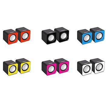 SNOPY SN-66 2.0 Pembe USB Speaker SN-66-P